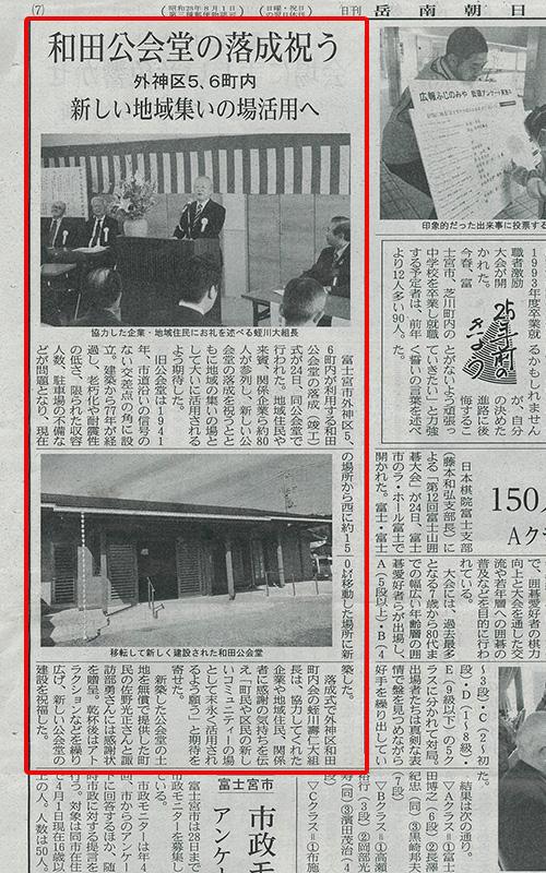 新和田公会堂 落成式